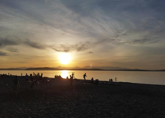 Alki Beach Sunset © terri nakamura - small